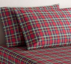 Pembroke Plaid Sheet Set | Pottery Barn - pillow cases & sheet sets only ($24-$149)