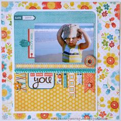 Papercrafting ideas: scrapbook layout idea. #papercraft #scrapbooking #layouts. Silly Amazing Handsome You - Scrapbook.com