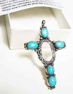 Eubanks Turquoise Native American Indian Cross