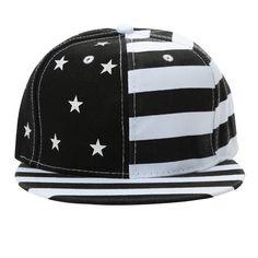 87eafc7572d New Women Men Cap American Flag USA Letter Print Snapback Flat Hat Baseball  Hip-Pop Cap Red Black black Online Shopping