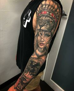 35 Amazing Sleeve Tattoos For Men Full Leg Tattoos, Forearm Sleeve Tattoos, Best Sleeve Tattoos, Tattoo Sleeve Designs, Half Sleeve Tattoos For Men, Hand Tattoos For Men, Mens Leg Tattoo, Best Tattoos For Men, Badass Tattoos
