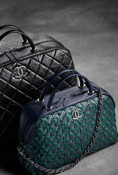 Large calfskin bowling bag- CHANEL