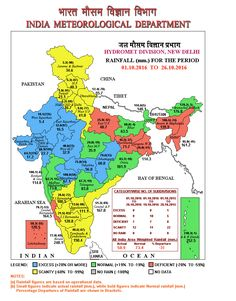 IMD - Rainfall for the Season - Cumulative till last week