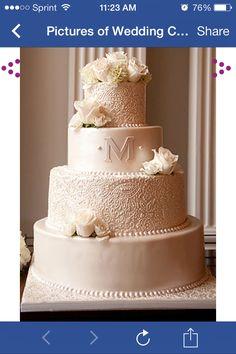 Beautiful cake for an elegant wedding