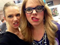 AJ Cook & Kirsten Vangsness on the last day of filming for Criminal Minds season 9