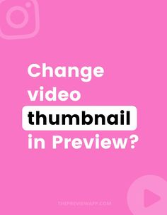 As you might have noticed, you cannot change the Instagram video thumbnail after posting on Instagram. But can use your Preview App to check if your video thumbnail and cover image look fine in your grid. You can upload different thumbnails and cover images. You can see which one looks the best or catches people's attention the most – before you post on Instagram! #instagramtips #instagramstrategy #instagrammarketing #socialmedia #socialmediatips Social Media Tips, Social Media Marketing, Video Thumbnail, Gain Followers, Instagram Marketing Tips, Instagram Bio, Community Manager, Influencer Marketing, Management Tips