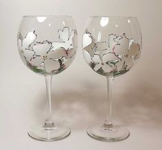 Dogwood Red Wine Glass by ArtsyFartsyServeware on Etsy, $14.00