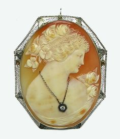 Victorian 14k Yellow Gold Cameo Pin | New York Estate Jewelry | Israel Rose
