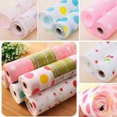 300cm Cute Polka Dots Shelf Contact Paper Cabinet Drawer Liner Kitchen Table Mat