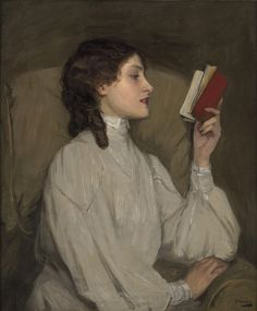 John Lavery:  Miss Auras. The Red Book  (early 1900)