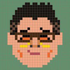 'Choi Yongjin'  Dotstyle 8bit-portrait