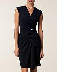 Cap Slv Wrap Dress - Michael Michael Kors - Navy - Dresses - Clothing - NELLY.COM UK