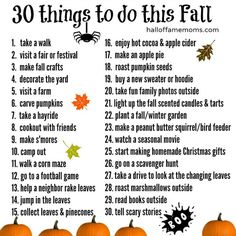 Don't let fall pass by without creating your own family's Fall Bucket List of fun things to do. I've got 30 fun fall ideas with a free printable to get...