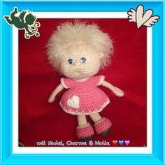 Puppe Paulina gehäkelt aus Baumwollgarn Anleitung von Colorfull Dreams mit diversen Abwandlungen (Arbeit und Foto von mir)