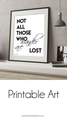 "Printable instant download poster of Tolkien's first book in the Lord of the Rings series, 'The Fellowship of the Ring' quote.""Not all those who wander are lost"" minimalist black and white print. Click thru now to get this in my Etsy shop and hang it in your home today!"