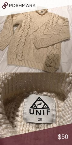 89cab51326cd Unif star fisherman Heavy weight beige sweater from UNIF UNIF Sweaters Cowl    Turtlenecks