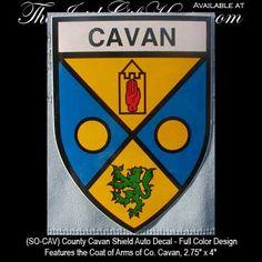 County Cavan | county cavan ireland coat of arms decal irish gifts county cavan ...