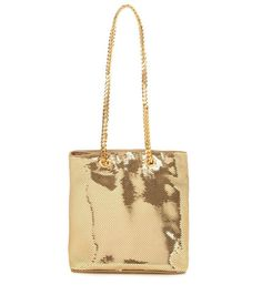 Saint Laurent Golden Sequin Tote Bag  #saintlaurent #totes #saintlaurentgoldensequintotes #luxurybags