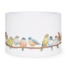 Laura Ashley 14 inch Birds Printed Fabric Shade #TimelessCountry #interiors