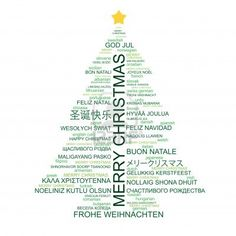 photo regarding Merry Christmas in Different Languages Printable named Xmas Artwork