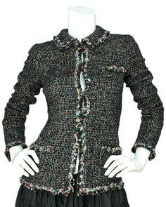 bdfe3677fd0f chanel tweed Chanel Dress, Chanel Pink, Vintage Chanel, Black Tweed Jacket,  Vintage