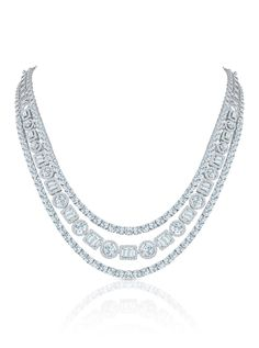 Diamonds in 18K gold necklace, Entice Jewellery for Forevermark
