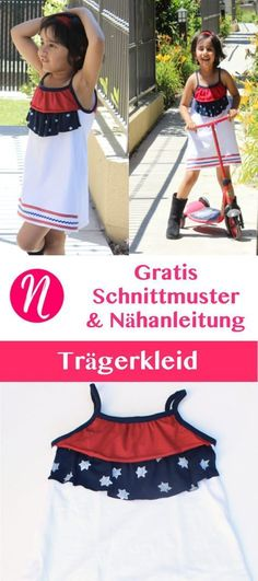 Freebook - Hängerkleid für Mädchen - Kostenlose Nähanleitung & Schnittmuster ❤ für 5 Jahre ❤ Nähtalente - Magazin für kostenlose Schnittmuster