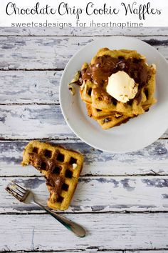 Chocolate Chip Cookie Waffles