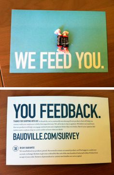 Baudville Survey Card I ordered certificates from this company and look at the little gem that came in the box. Very clever, luv it!