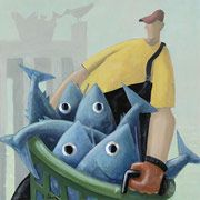 David Witbeck. Fisherman series. Love his whimsical style.