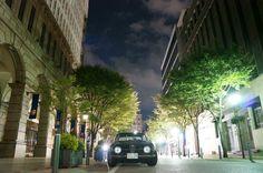 My car Giulia on the street in Kobe, Japan.