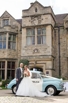 Retro police wedding car | Redworth Hall Wedding Photography | Vanessa Adams. Photography with heart