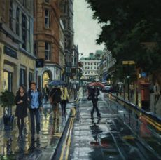 Rain Archives - Page 8 of 10 - Art Wishlist Rain Painting, City Painting, London Art, Mayfair London, Rob Adams, I Love Rain, Greater London, Wales, Street View