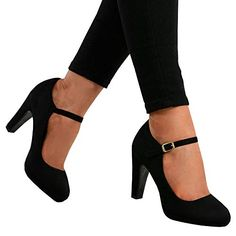 f20a7a5424ee9f Fashare Womens Pointed Toe High Heels Bowtie Back Ankle Buckle Strap  D Orsay Dress Pumps Shoes