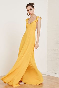 Reformation's Spring 2016 Wedding Collection Reformation Isabella Dress in Yellow