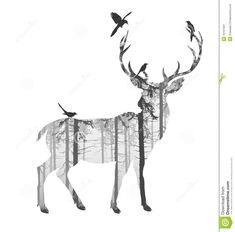 Deer Silhouette Art — Crafthubs