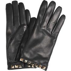 Valentino Rockstuds gloves ($350) ❤ liked on Polyvore featuring accessories, gloves and valentino gloves