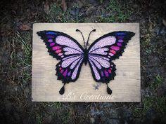 Purple butterfly string art !!