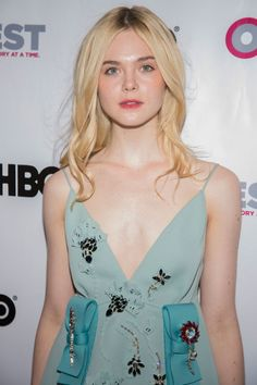 Elle Fanning at the opening gala for 'Tig' during the Outfest LGBT Film Festival