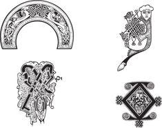 Floral, Gothique, Vecteur, Celtique
