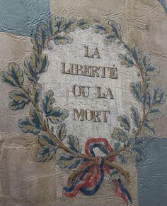 Antique French flag, 'liberty or death' Tyler Durden, Fight Club, Camille Desmoulins, Les Religions, French Revolution, Victor Hugo, Paris, Hetalia, George Washington