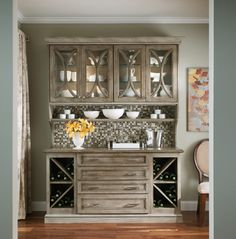 Base Cabinet with Crossmate Wine Storage - Peppered Appaloos.- Base Cabinet with Crossmate Wine Storage – Peppered Appaloosa Base Cabinet with Crossmate Wine Storage – Peppered Appaloosa - Dining Room Hutch, Kitchen Hutch, Kitchen Decor, Kitchen Ideas, Kitchen Designs, Bath Cabinets, Wine Cabinets, Storage Cabinets, Appaloosa