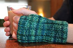 Ravelry: Wribbed Wristers pattern by Joan Janes Fingerless Gloves Knitted, Crochet Gloves, Knit Mittens, Knitting Patterns Free, Free Knitting, Crochet Patterns, Wrist Warmers, Hand Warmers, Mittens Pattern