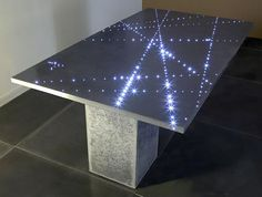 contemporary concrete table FLIGHT