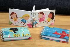 Mini Cuadernos de tela, ideales para llevar en el bolso y no perder detalle