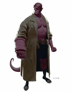 """""""Hellboy"""" by Ryan Lang -  Blog/Website   (http://ryanlangdraws.blogspot.ie/) ★    CHARACTER DESIGN REFERENCES   キャラクターデザイン  • Find more artworks at https://www.facebook.com/CharacterDesignReferences  http://www.pinterest.com/characterdesigh and learn how to draw: #concept #art #animation #anime #comics    ★"""