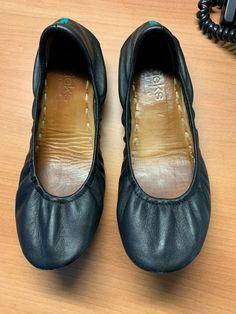 99b2539cc420 Tieks by Gavrieli Size 7 Foldable Ballet Flats Matte Black - Used