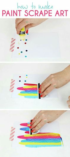 Scrape Notecards - DIY Art Project Idea How to make paint scrape art notecards. Fun and simple DIY art project idea for kids.How to make paint scrape art notecards. Fun and simple DIY art project idea for kids. Diy Note Cards, Easy Crafts For Teens, Kids Diy, Fun Easy Crafts, Art Ideas For Teens, Diy Crafts For Teen Girls, Fun Things To Make For Teens, Craft For Tweens, Diy Room Decor For Teens Easy