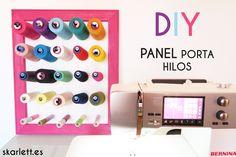 DIY / MANTEN TUS HILOS A RAYA CON ESTE PANEL PORTA HILOS via @armandskarlett