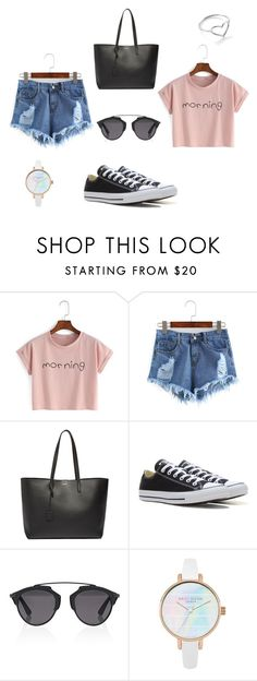 """""""#27 women casual"""" by ndreamcatcher on Polyvore featuring mode, Yves Saint Laurent, Converse, Christian Dior et Jordan Askill"""